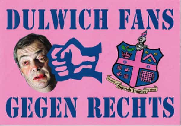 An anti-Ukip Dulwich Hamlet stickers inspired by their German sister team, Altona 93.