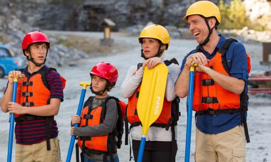 Steele Stebbins, Skyler Gisondo, Christina Applegate and Ed Helms in Vacation