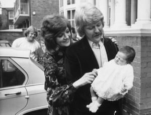 Cilla Black with husband and manager Bobby Willis and their baby in 1970