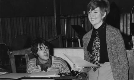 Cilla Black rehearsing with Paul McCartney.