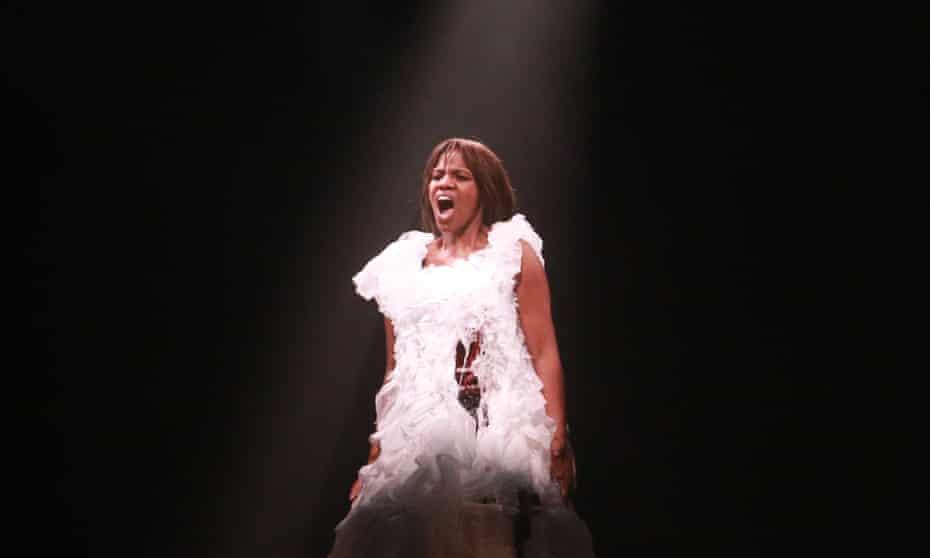 mezzo-soprano Ruby Philogene as Phaedra in Britten's cantata.