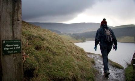 A walker in the Peak District
