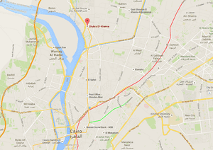 Map shows the Shubra El-Kheima neighbourhood in northern Cairo, where an explosion reportedly took place.