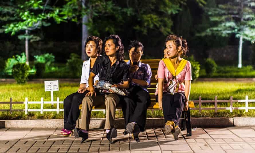 Girls in Pyongyang, North Korea