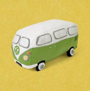 Volkswagen VW van felt artist Lucy Sparrow