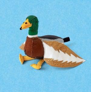 Lucy Sparrow artist felt duck