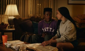 With Shameik Moore in Dope.