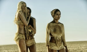 With Abbey Lee Kershaw and Courtney Eaton in Mad Max: Fury Road.