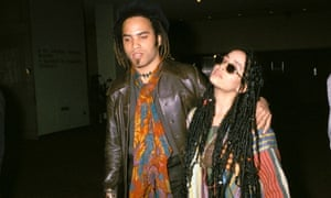 Lenny Kravitz and Lisa Bonet in 1987.