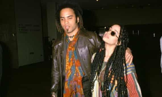 Lenny Kravitz and Lisa Bonet in 1987.