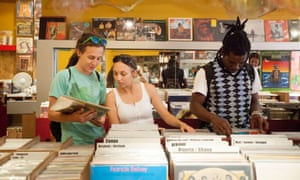 Sofa record shop