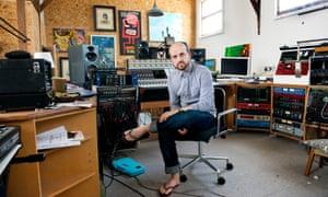 Matthew Herbert in his recording studio. Photograph: Linda Nylind