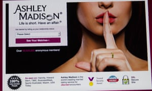 The front page of Ashley Madison's website.