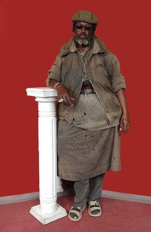 An Ethiopian man from Jan Hoek's series Sweet Crazies.