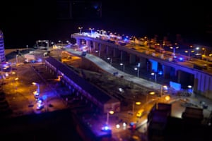 "Jimmy Cauty, ex- KLF member's work, ""The Aftermath Dislocation Principle Part One: A Small World Re-Enactment"", built in miniature"