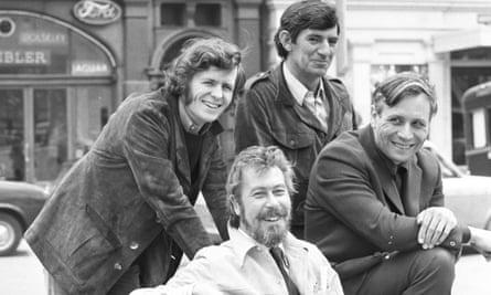 From left: David Hare, John Osborne, EA Whitehead and David Storey. Photograph: Peter Dunne