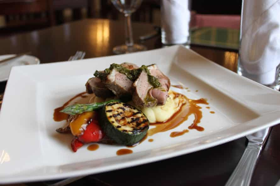 Excellent local lamb at No1 Bistro in Mackay's Hotel, Wick