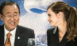 Ban Ki-moon and Emma Watson launch the HeForShe campaign