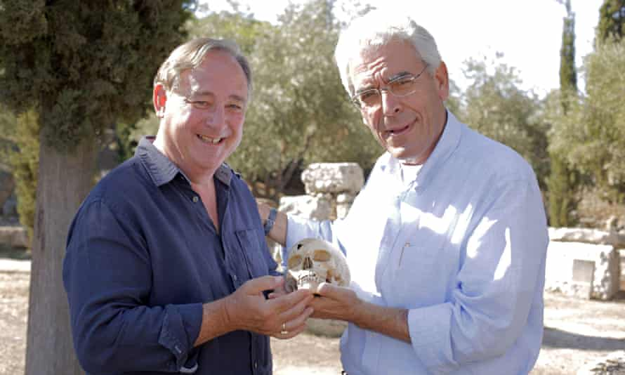 Enthusiastic … Andrew Wallace-Hadrill with Dr Manolis Papagrigorakis in Building The Ancient City: A