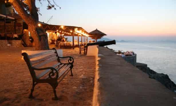 Sunset Restaurant, Hydra Town, Greece