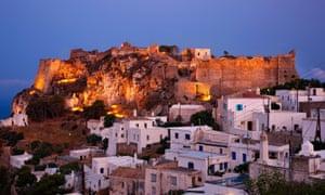 Castle on the hilltop, Hora, Greece