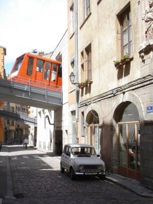 Funicular railway departing Vieux Lyon