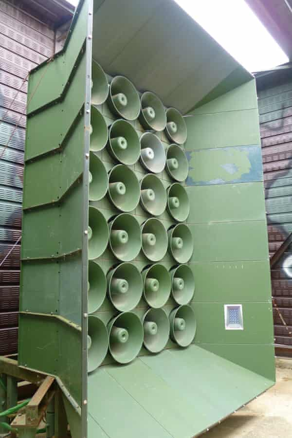 A handout picture from the South Korean defence ministry showing one of the loudspeakers.
