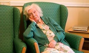 older woman in armchair