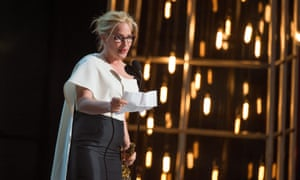 Patricia Arquette accepts the Oscar for actress in a supporting role for Boyhood – and also highlighted pay disparity.