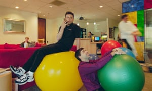 Want to stay fit in the office? Try sitting on a Swiss ball.