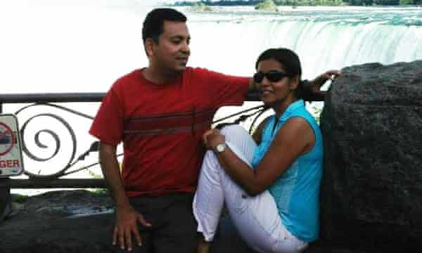 Rafida Ahmed with her husband Dr Avijit Roy. They were attacked by masked men with machetes after attending an event at the University of Dhaka in February. Roy died shortly afterwards.