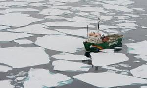 Greepeace boat, Arctic, 2012