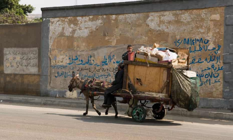 Cairo's zabaleen collect the city's waste on donkey carts.