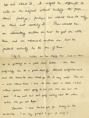 One of the letters written by Turing to a friend in the 1950s.