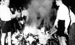 Nazis buring books