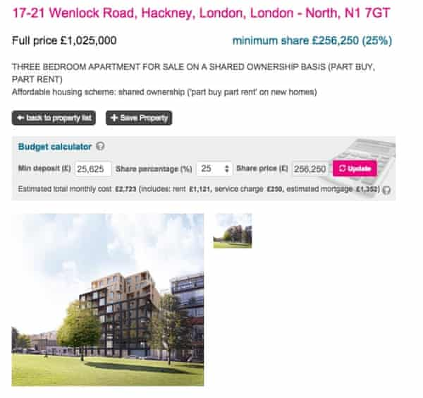 £1m shared ownership flat in Hackney