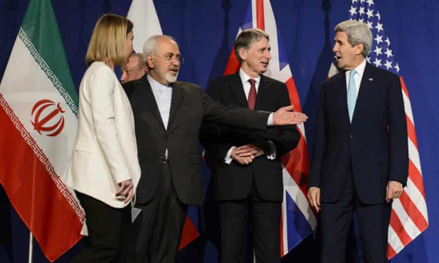 EU and US diplomats with Iran foreign minister