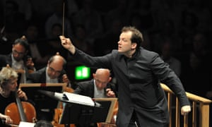 Andris Nelsons with the Boston Symphony Orchestra.