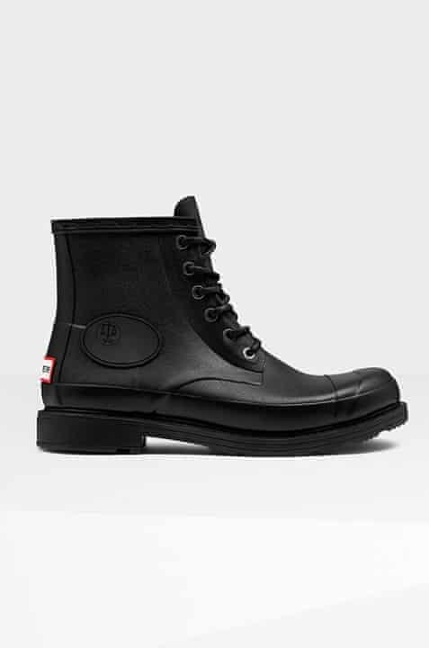 Black waterproof boots by Hunter