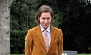 Wes Anderson and his trademark cord suit.