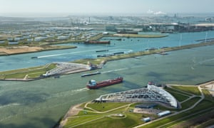 A storm surge barrier in Rotterdam.