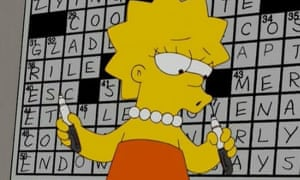 Lisa Simpson solves Merl Reagan's crossword in The Simpsons' episode