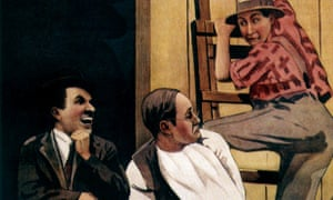 Detail from a poster for The Tramp.