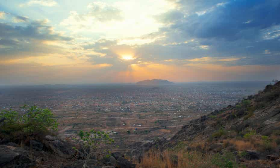 Sunrise over city of Juba in South Sudan.