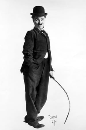 Charlie Chaplin in his Tramp days.