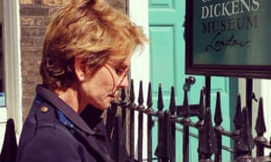 Patricia Cornwell outside the Dickens museum