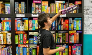 Plenty of games available at the Thirsty Meeples board game cafe, Oxford.