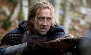 Notflix ... Nicolas Cage in Season of the Witch.