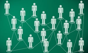 Figures connected in a network