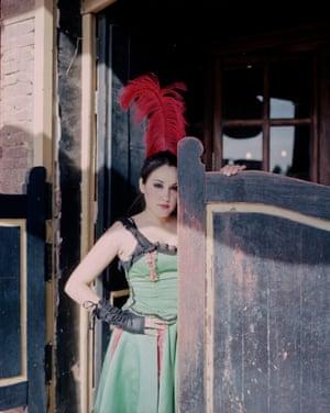 A showgirl in a bar Tabernas